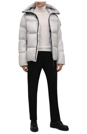 Мужская пуховая куртка crofton CANADA GOOSE светло-серого цвета, арт. 2252M | Фото 2 (Материал подклада: Синтетический материал; Материал внешний: Синтетический материал; Материал утеплителя: Пух и перо; Кросс-КТ: Куртка; Мужское Кросс-КТ: пуховик-короткий; Длина (верхняя одежда): Короткие; Стили: Спорт-шик; Рукава: Длинные)