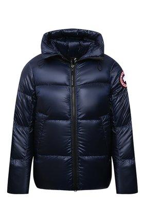 Мужская пуховая куртка crofton CANADA GOOSE темно-синего цвета, арт. 2252M | Фото 1 (Материал подклада: Синтетический материал; Материал утеплителя: Пух и перо; Материал внешний: Синтетический материал; Кросс-КТ: Куртка; Мужское Кросс-КТ: пуховик-короткий; Длина (верхняя одежда): Короткие; Стили: Спорт-шик; Рукава: Длинные)