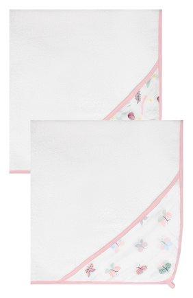 Детского набор из двух полотенец ADEN+ANAIS белого цвета, арт. EHTC20003B | Фото 1 (Материал: Текстиль, Хлопок)