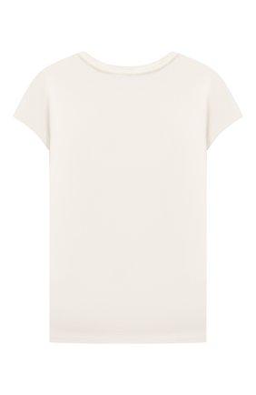 Детская хлопковая футболка POLO RALPH LAUREN кремвого цвета, арт. 311853435 | Фото 2 (Материал внешний: Хлопок; Рукава: Короткие; Ростовка одежда: 18 мес | 86 см, 3 года | 98 см, 4 года | 104 см)