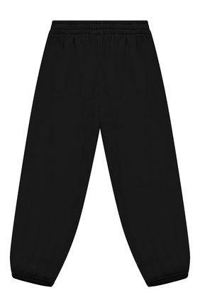 Детские хлопковые джоггеры BALENCIAGA черного цвета, арт. 682140/TLV72 | Фото 2 (Материал внешний: Хлопок; Мальчики Кросс-КТ: Брюки-спорт; Ростовка одежда: 10 - 11 лет | 140 - 146см, 2 года | 92 см, 4 года | 104 см, 6 лет | 116 см, 8 лет | 128 см)