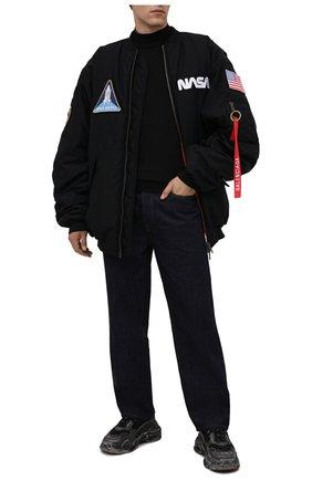 Мужские кроссовки triple s BALENCIAGA черного цвета, арт. 536737/W3CN3 | Фото 2 (Стили: Гранж; Материал внутренний: Текстиль; Материал внешний: Текстиль; Подошва: Массивная)