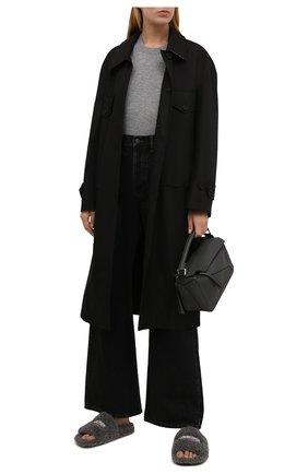 Женские текстильные шлепанцы furry BALENCIAGA серого цвета, арт. 654261/W2D01 | Фото 2 (Подошва: Платформа; Материал внешний: Текстиль; Материал внутренний: Текстиль)