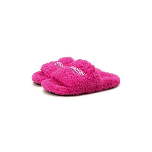 Текстильные шлепанцы Furry Balenciaga