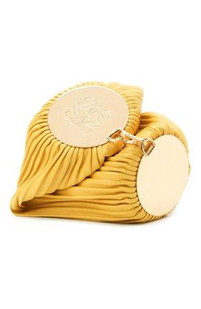 Женская сумка bracelet LOEWE желтого цвета, арт. C912P84X02   Фото 1 (Материал: Натуральная кожа; Размер: small; Сумки-технические: Сумки через плечо; Женское Кросс-КТ: Вечерняя сумка)