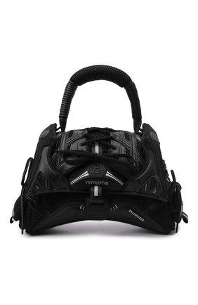 Женская сумка sneakerhead s BALENCIAGA черного цвета, арт. 661723/2X507 | Фото 1 (Размер: small; Материал: Текстиль; Ремень/цепочка: На ремешке; Сумки-технические: Сумки top-handle)