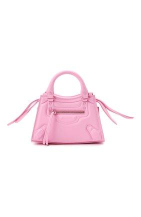 Женская сумка neo classic city mini BALENCIAGA розового цвета, арт. 638524/2VV0I | Фото 1 (Размер: mini; Материал: Натуральная кожа; Ремень/цепочка: На ремешке; Сумки-технические: Сумки top-handle)