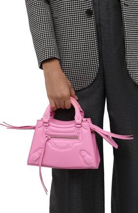 Женская сумка neo classic city mini BALENCIAGA розового цвета, арт. 638524/2VV0I | Фото 2 (Размер: mini; Материал: Натуральная кожа; Ремень/цепочка: На ремешке; Сумки-технические: Сумки top-handle)