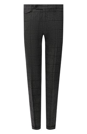 Мужские шерстяные брюки BERWICH темно-серого цвета, арт. VULCAN0Z/AN1311   Фото 1 (Материал внешний: Шерсть; Материал подклада: Купро; Стили: Классический; Случай: Формальный; Длина (брюки, джинсы): Стандартные)