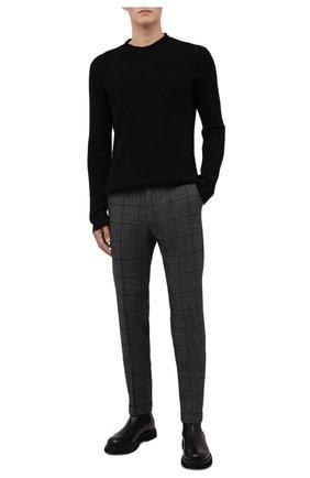 Мужские шерстяные брюки BERWICH темно-серого цвета, арт. VULCAN0Z/AN1311   Фото 2 (Материал внешний: Шерсть; Материал подклада: Купро; Стили: Классический; Случай: Формальный; Длина (брюки, джинсы): Стандартные)
