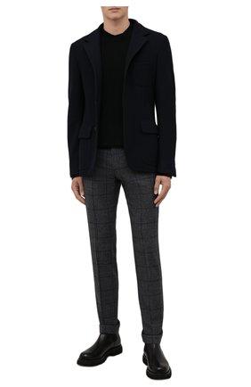 Мужские шерстяные брюки BERWICH серого цвета, арт. VULCAN0Z/AN1311 | Фото 2 (Материал внешний: Шерсть; Материал подклада: Купро; Стили: Классический; Случай: Формальный; Длина (брюки, джинсы): Стандартные)