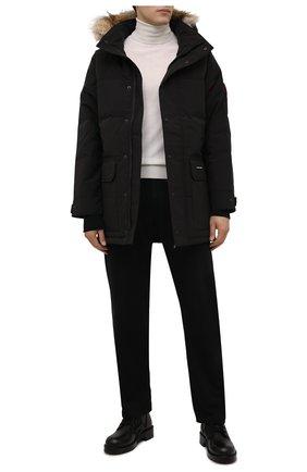 Мужская пуховик emory CANADA GOOSE черного цвета, арт. 2580M | Фото 2 (Материал утеплителя: Пух и перо; Материал подклада: Синтетический материал; Материал внешний: Синтетический материал; Кросс-КТ: Куртка; Длина (верхняя одежда): До середины бедра; Стили: Кэжуэл; Мужское Кросс-КТ: пуховик-короткий; Рукава: Длинные)