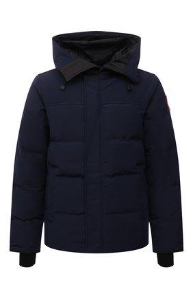 Мужская пуховая куртка macmillan CANADA GOOSE темно-синего цвета, арт. 3804M | Фото 1 (Материал внешний: Синтетический материал; Материал утеплителя: Пух и перо; Материал подклада: Синтетический материал; Кросс-КТ: Куртка; Длина (верхняя одежда): Короткие; Стили: Кэжуэл; Мужское Кросс-КТ: пуховик-короткий; Рукава: Длинные)