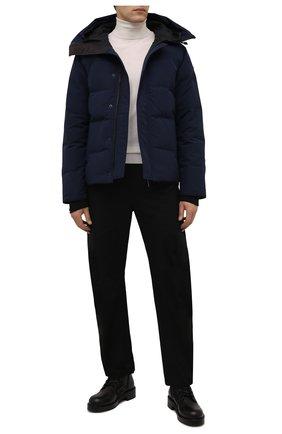 Мужская пуховая куртка macmillan CANADA GOOSE темно-синего цвета, арт. 3804M | Фото 2 (Материал внешний: Синтетический материал; Материал утеплителя: Пух и перо; Материал подклада: Синтетический материал; Кросс-КТ: Куртка; Длина (верхняя одежда): Короткие; Стили: Кэжуэл; Мужское Кросс-КТ: пуховик-короткий; Рукава: Длинные)