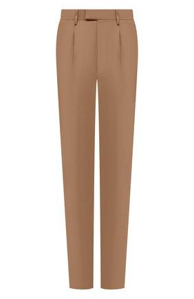 Мужские хлопковые брюки ERMENEGILDO ZEGNA бежевого цвета, арт. UVI14/TP24 | Фото 1 (Материал внешний: Хлопок; Стили: Кэжуэл; Случай: Повседневный; Длина (брюки, джинсы): Стандартные)