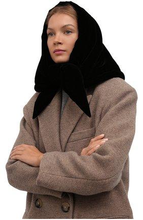 Женский утепленная косынка TAK.ORI черного цвета, арт. SCT90070PL100AW21 | Фото 2 (Материал: Синтетический материал, Текстиль)