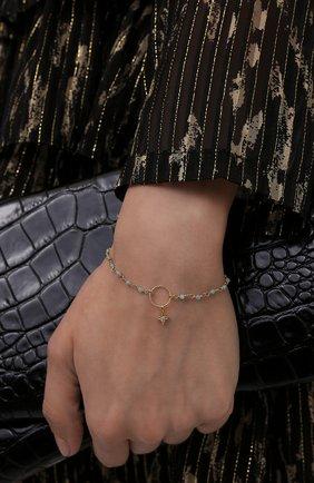 Женский браслет HANKA_IN золотого цвета, арт. MER-BR-AMA-ET0 | Фото 2 (Материал: Металл)