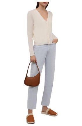 Женского кожаные домашние туфли woody CHLOÉ коричневого цвета, арт. CHC21A487S8   Фото 2 (Материал утеплителя: Натуральный мех; Подошва: Платформа)
