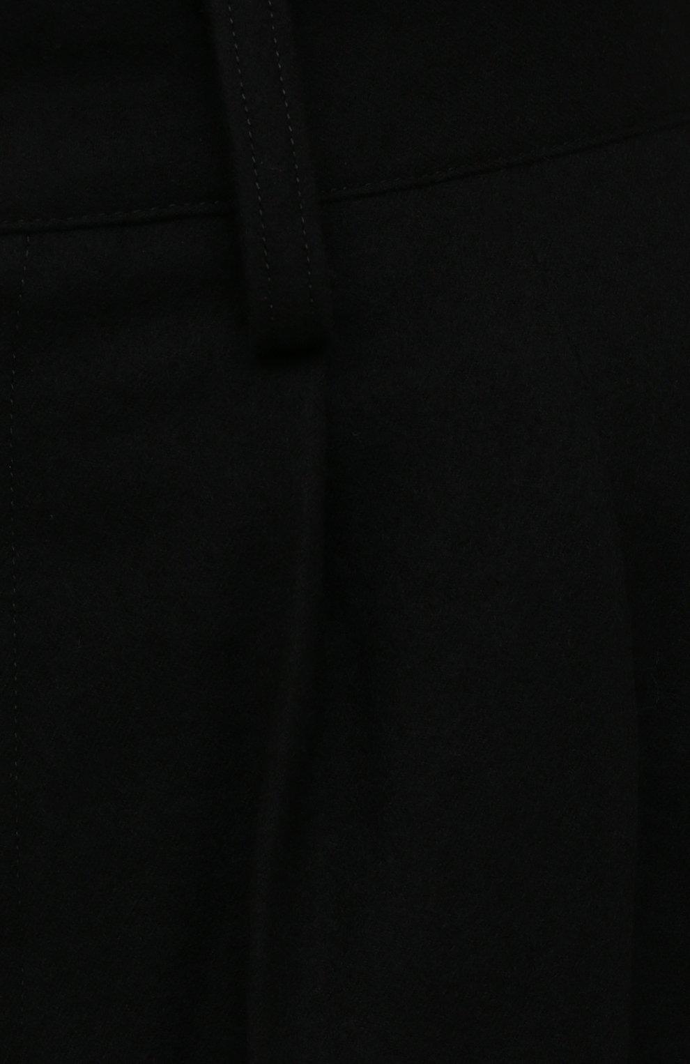 Женские шерстяные шорты Y`S черного цвета, арт. YX-P02-107   Фото 5 (Женское Кросс-КТ: Шорты-одежда; Материал внешний: Шерсть; Длина Ж (юбки, платья, шорты): Мини; Стили: Минимализм; Материал подклада: Купро)