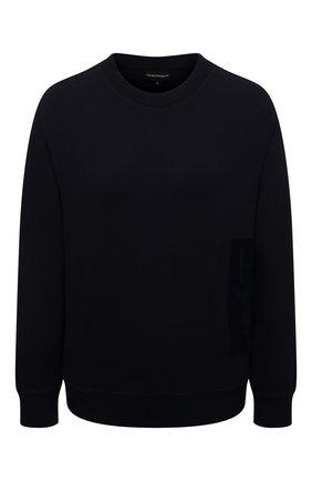 Женский пуловер EMPORIO ARMANI темно-синего цвета, арт. 6K2M7N/2JRIZ | Фото 1 (Материал внешний: Вискоза; Рукава: Длинные; Длина (для топов): Стандартные; Стили: Кэжуэл; Женское Кросс-КТ: Пуловер-одежда)