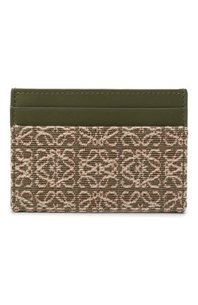 Женский футляр для кредитных карт LOEWE зеленого цвета, арт. C604322X01   Фото 1 (Материал: Текстиль)