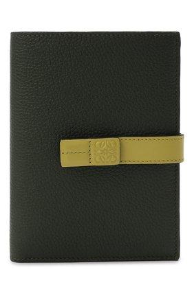 Женские кожаное портмоне LOEWE хаки цвета, арт. C660S87X01 | Фото 1