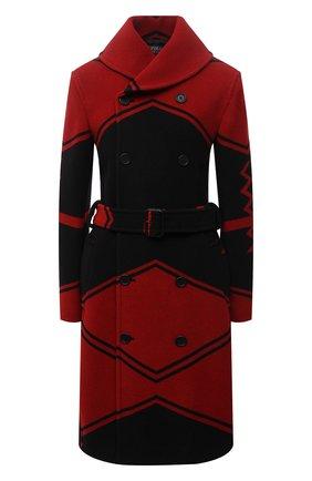 Женское двубортное пальто POLO RALPH LAUREN красного цвета, арт. 211815084   Фото 1 (Материал подклада: Вискоза; Рукава: Длинные; Материал внешний: Шерсть; Длина (верхняя одежда): До колена; Стили: Гламурный; 1-2-бортные: Двубортные)