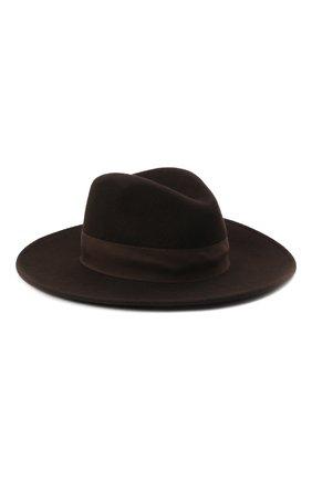 Женская шерстяная шляпа POLO RALPH LAUREN коричневого цвета, арт. 455858403 | Фото 1 (Материал: Шерсть)