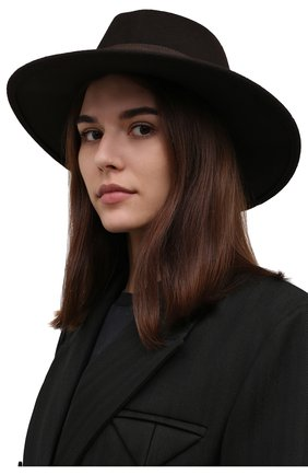 Женская шерстяная шляпа POLO RALPH LAUREN коричневого цвета, арт. 455858403 | Фото 2 (Материал: Шерсть)