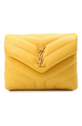 Женская сумка loulou toy SAINT LAURENT желтого цвета, арт. 678401/DV707 | Фото 1 (Материал: Натуральная кожа; Размер: small, mini; Сумки-технические: Сумки через плечо; Ремень/цепочка: На ремешке)