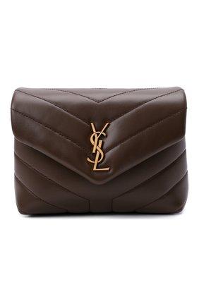Женская сумка loulou toy SAINT LAURENT коричневого цвета, арт. 678401/DV707 | Фото 1 (Материал: Натуральная кожа; Размер: small, mini; Сумки-технические: Сумки через плечо; Ремень/цепочка: На ремешке)