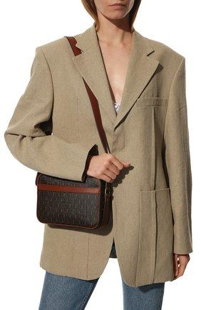 Женская сумка le monogramme SAINT LAURENT коричневого цвета, арт. 670229/2UY2W | Фото 2 (Материал: Экокожа; Размер: small; Ремень/цепочка: На ремешке; Сумки-технические: Сумки через плечо)