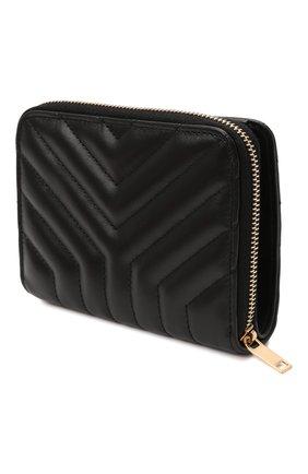 Женские кожаный кошелек SAINT LAURENT черного цвета, арт. 668323/DV701 | Фото 2