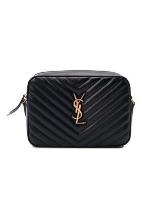Женская сумка lou medium SAINT LAURENT темно-синего цвета, арт. 612544/DV707 | Фото 1 (Материал: Натуральная кожа; Размер: medium; Сумки-технические: Сумки через плечо; Ремень/цепочка: На ремешке)