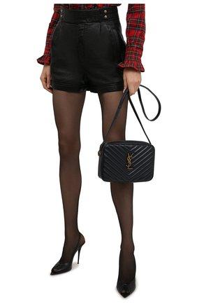 Женская сумка lou medium SAINT LAURENT темно-синего цвета, арт. 612544/DV707 | Фото 2 (Материал: Натуральная кожа; Размер: medium; Сумки-технические: Сумки через плечо; Ремень/цепочка: На ремешке)