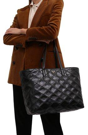 Женский сумка-шопер east/west large SAINT LAURENT черного цвета, арт. 607095/0ENA7 | Фото 2 (Размер: large; Материал: Натуральная кожа; Сумки-технические: Сумки-шопперы)