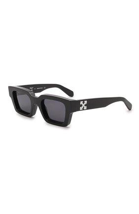 Женские солнцезащитные очки OFF-WHITE черного цвета, арт. 0ERI008Y21PLA001   Фото 1 (Тип очков: С/з)