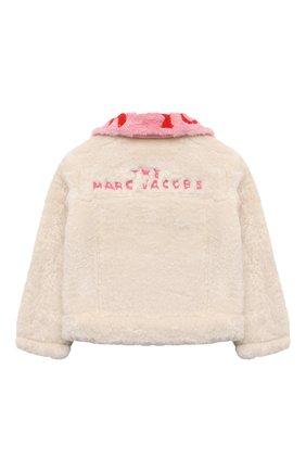 Детская куртка MARC JACOBS (THE) кремвого цвета, арт. W16134 | Фото 2 (Материал подклада: Хлопок; Материал внешний: Синтетический материал; Рукава: Длинные; Кросс-КТ: бомбер; Ростовка одежда: 9 лет | 134 см, 12 лет | 152 см, 3 года | 98 см, 4 года | 104 см, 5 лет | 110 см, 7 лет | 122 см)