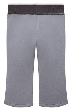 Детские хлопковые брюки EMPORIO ARMANI серого цвета, арт. 6KEP07/1JHSZ   Фото 2 (Материал внешний: Хлопок; Ростовка одежда: 9 мес   74 см, 12 мес   80 см, 24 мес   92 см, 36 мес   98 см)
