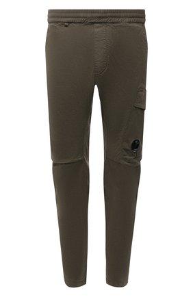 Мужские хлопковые брюки C.P. COMPANY хаки цвета, арт. 11CMPA193A-005529G | Фото 1 (Материал внешний: Хлопок; Стили: Милитари; Случай: Повседневный; Длина (брюки, джинсы): Стандартные)