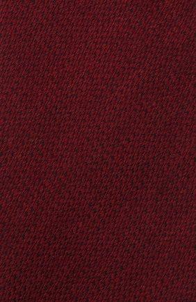 Мужской галстук из шерсти и шелка LUIGI BORRELLI бордового цвета, арт. CR361134 | Фото 4 (Принт: Без принта; Материал: Шерсть)