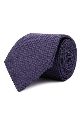 Мужской шелковый галстук LUIGI BORRELLI фиолетового цвета, арт. CR361170 | Фото 1 (Материал: Шелк, Текстиль; Принт: Без принта)