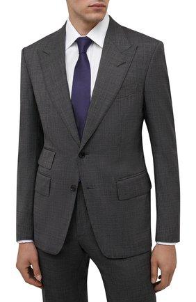 Мужской шелковый галстук LUIGI BORRELLI фиолетового цвета, арт. CR361170 | Фото 2 (Материал: Шелк, Текстиль; Принт: Без принта)