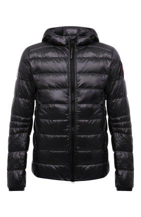 Мужская пуховая куртка crofton CANADA GOOSE темно-серого цвета, арт. 2227M | Фото 1 (Материал подклада: Синтетический материал; Материал внешний: Синтетический материал; Материал утеплителя: Пух и перо; Кросс-КТ: Куртка; Длина (верхняя одежда): Короткие; Стили: Спорт-шик; Мужское Кросс-КТ: пуховик-короткий; Рукава: Длинные)