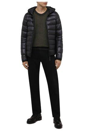 Мужская пуховая куртка crofton CANADA GOOSE темно-серого цвета, арт. 2227M | Фото 2 (Материал подклада: Синтетический материал; Материал внешний: Синтетический материал; Материал утеплителя: Пух и перо; Кросс-КТ: Куртка; Длина (верхняя одежда): Короткие; Стили: Спорт-шик; Мужское Кросс-КТ: пуховик-короткий; Рукава: Длинные)