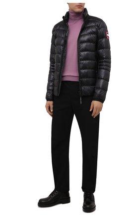 Мужская пуховая куртка crofton CANADA GOOSE темно-серого цвета, арт. 2228M | Фото 2 (Материал подклада: Синтетический материал; Материал внешний: Синтетический материал; Материал утеплителя: Пух и перо; Кросс-КТ: Куртка; Длина (верхняя одежда): Короткие; Стили: Спорт-шик; Мужское Кросс-КТ: пуховик-короткий; Рукава: Длинные)