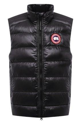 Мужской пуховый жилет crofton CANADA GOOSE темно-серого цвета, арт. 2229M | Фото 1 (Материал утеплителя: Пух и перо; Материал внешний: Синтетический материал; Материал подклада: Синтетический материал; Кросс-КТ: Куртка, Пуховик; Стили: Спорт-шик; Длина (верхняя одежда): Короткие)