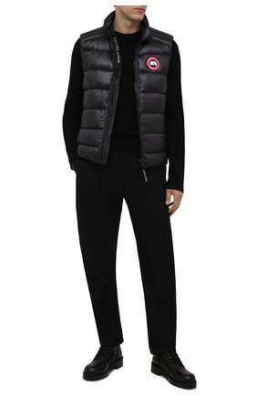 Мужской пуховый жилет crofton CANADA GOOSE темно-серого цвета, арт. 2229M | Фото 2 (Материал утеплителя: Пух и перо; Материал внешний: Синтетический материал; Материал подклада: Синтетический материал; Кросс-КТ: Куртка, Пуховик; Стили: Спорт-шик; Длина (верхняя одежда): Короткие)