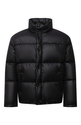 Мужская пуховая куртка SAINT LAURENT черного цвета, арт. 671966/Y744T | Фото 1 (Рукава: Длинные; Материал подклада: Синтетический материал; Материал внешний: Синтетический материал; Материал утеплителя: Пух и перо; Длина (верхняя одежда): Короткие; Кросс-КТ: Куртка; Мужское Кросс-КТ: пуховик-короткий)