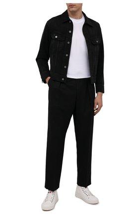 Мужская джинсовая куртка SAINT LAURENT черного цвета, арт. 660464/Y19LA   Фото 2 (Материал внешний: Хлопок; Длина (верхняя одежда): Короткие; Рукава: Длинные; Кросс-КТ: Куртка, Деним; Стили: Гранж)